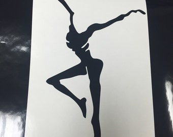 Fire Dancer Vinyl Decal