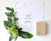 Father of the Groom Printed Handkerchief Keepsake. Printed Handkerchief. Stepfather. Godfather. Father of the Groom.