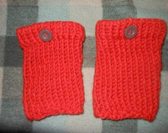 Knitted Boot Cuffs Leg Warmers Boot Toppers Burnt Orange Rust Knit Boot Cuffs