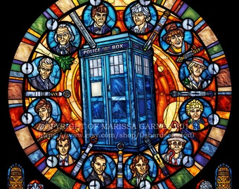 Rose Window - Dr. Who Stained Glass Illustration