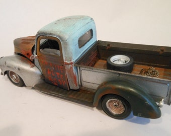 Made in USA Vintage Pickup Truck Handmade Scale Model Truck
