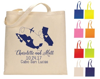 State to State Favors, Destination Tote Bags, Personalized Tote Bags, Wedding Tote Bags, Welcome Bags, Wedding Favors, 1228, 1091, 1147