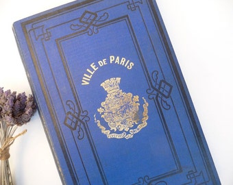 Antique French Book Paris 1874 Decorative Book French Vintage Book Gilt French School Book Textbook French History Book