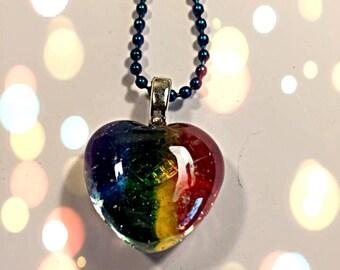 LGBT Heart Pendant