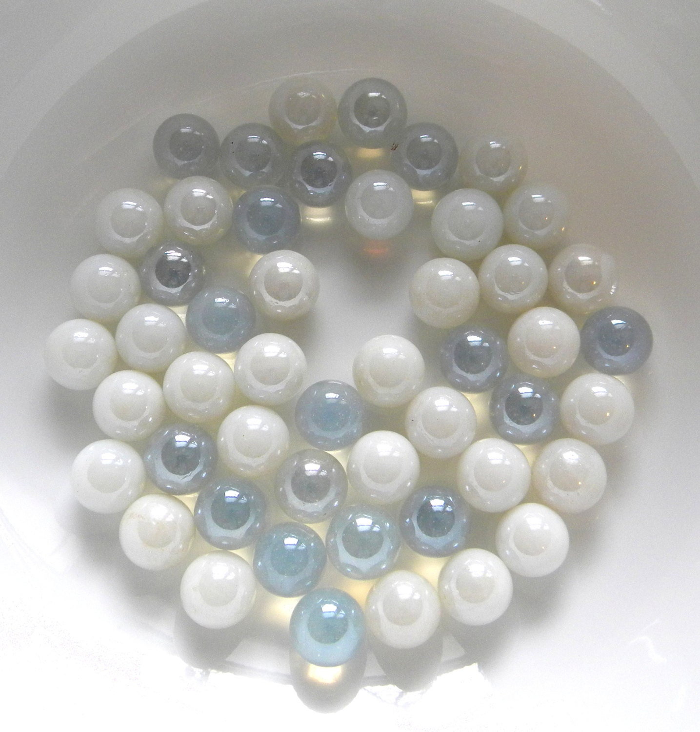 50 round glass gems white for crafts mosaic wedding floral for Glass jewels for crafts