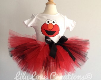 Elmo Birthday Outfit , Elmo First Birthday Outfit, Elmo Birthday Tutu, Elmo Birthday Theme