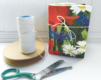 Poppy Field Gift Wrap - great for scrapbooking, paper crafting or wrapping paper