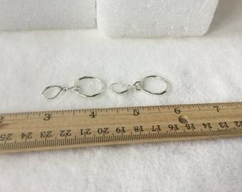 Earrings, Silver Earrings, Silver Circle Earrings, Pierced Earrings, Bohemian Earrings,Everyday Earrings,Little Silver Circles,