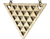 JANAK | long triangle necklace