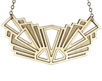 VISION | wood statement necklace