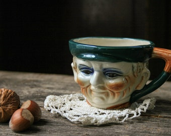 Toby Tea Cup Face English Man Figure