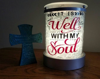 It is Well with my Soul Decal for Candle Warmer in 2-Color Option (Decal Only)