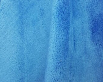 Minky Fabric By The Yard - Royal