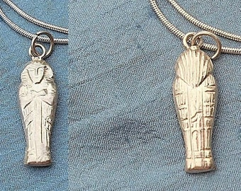Vintage Sterling Egyptian MUMMY NECKLACE. Only 29.90