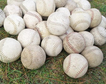 Vintage Softballs - Set of 5