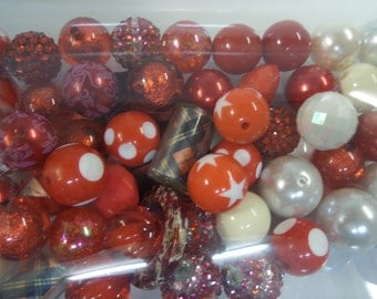 Destash, 18mm plus Beads, NOT Paired, 50 beads or more, NP50J