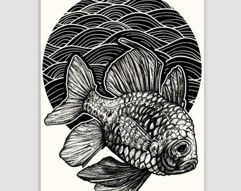 FISH limited edition print A3 print