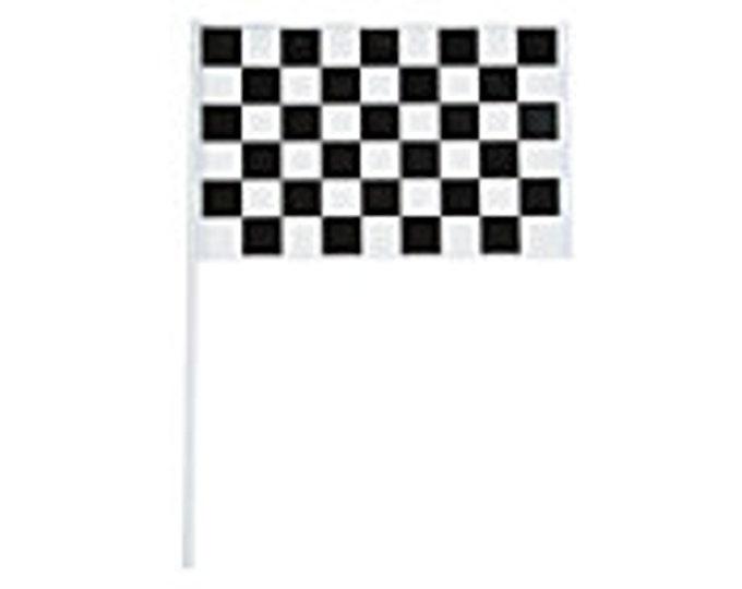 Black & White Checked Race Car Flag