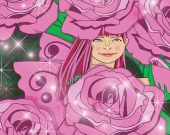 Rose Fairy Print