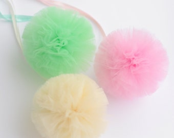 "Small size tulle pom poms balls 5""/13 cm  - custom colors - Wedding /Party Decoration /Tutu /baby shower"