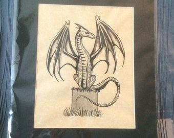 Pen and Ink Dragon