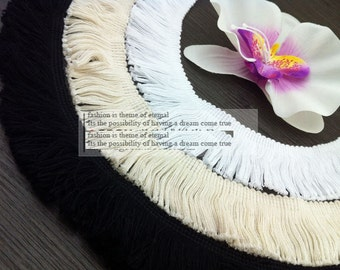 10 yard 1.5-10cm wide  black/ivory/gray/pink/navy cotton fringes tassels tapes lace trim ribbon a2fer free ship