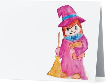 """Little Witch Greeting Card - 5.5"""" x 4"""""""