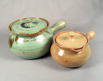 Pair of ML Owen, Seagrove North Carolina Pottery, pre-1938, Jugtown interest