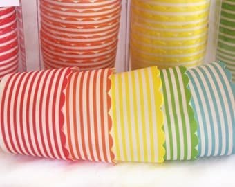 Small  Rainbow thin stripe--Nut/Candy/Baking Cups--20ct--Parties--cupcakes-gumballs-snacks