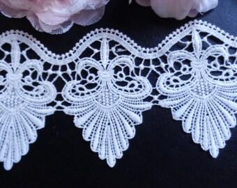 Venise Lace, 4 inch wide antique white lace select length