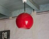 Globe Pendant Light // French 1960's Retro Lighting