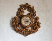 Vintage Wall Clock //  1970 Wall Hanging // Working Electronic Clock from Italy
