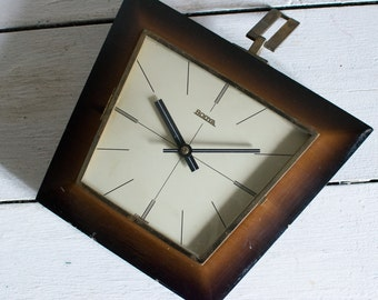 German Wall Clock // Modern Wood