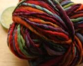 Dark Unicorn - Bulky Handspun Rainbow Merino Wool Yarn Hand Dyed
