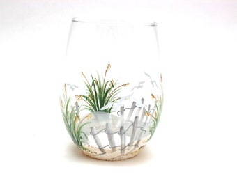 Jersey Shore Stemless White Wine Glasses (Set of Four)