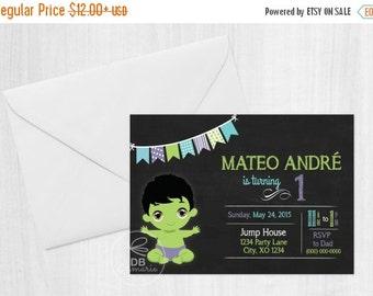 ON SALE Baby Hulk Digital Invitation