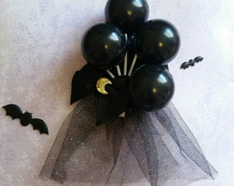Deathday Balloon Badge ( Creepy Cute, Gothic Lolita, Halloween )