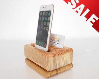 iPhone Dock + Card Holder, Modern minimalistic design, business card holder, for iPhone 5 / 5C / 5S / 6 / 6+ / 6S / 6S+ / 7 / 7+