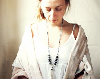 Back To The Earth ceramic handcrafted Yoga Necklace