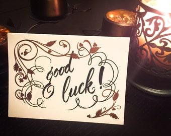 Calligraphy - Good Luck Card