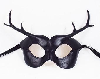 Black Deer Leather Mask
