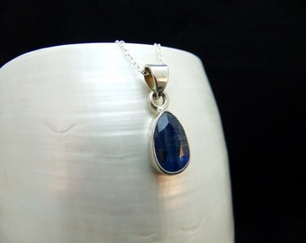 Rare Kyanite Handmade Silver Necklace