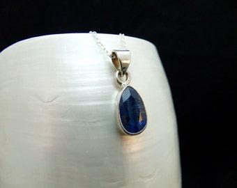 Rare Kyanite Handmade Silver Necklace
