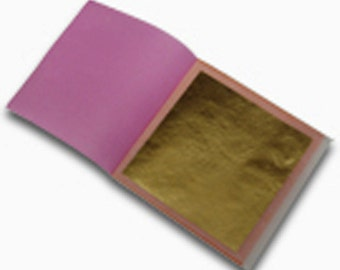 "24k Genuine Gold Leaf (Transfer) 3 1/8"" x 3 1/8"""