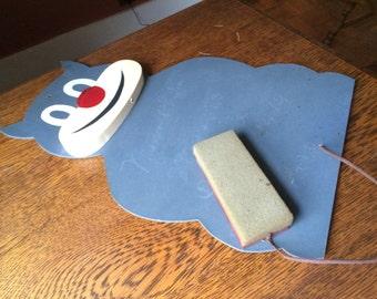 Rare, Vintage Felix the Cat Children's Chalkboard With Sponge Eraser