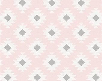 Nursing Pillow Cover - Aztec and Minky Boppy Cover - Blush, Pink, Gray, Western