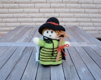 Halloween witch hand-knitted