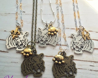Okrrah LSU inspired Necklace, Geaux Tigers! YOU PICK!