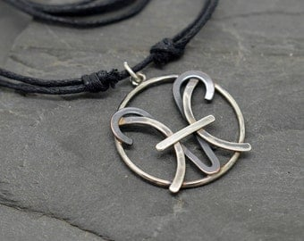 Pisces aries combined zodiac necklace