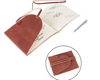 Personalized Leather Guest Book Engraved Journal